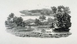 Landscape with house and river