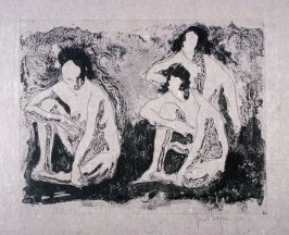 Nude figures seated, or three nudes