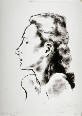 Young girl's head