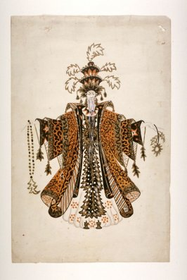 Costume Design for the Khan in Jean Epstein's movie Le Lion des Mogols, produced in 1924