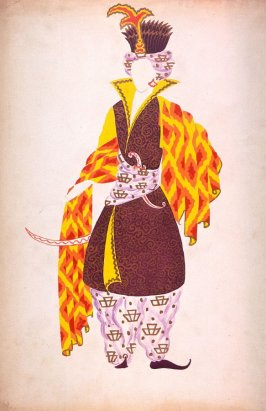 Costume Design for Jean Epstein's movie Le Lion des Mogols produced in 1924