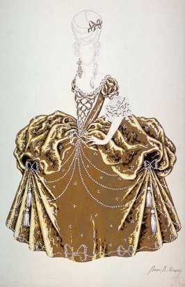 Costume Design for a Lady, Alexandre Volkoff's movie Casanova (1927)