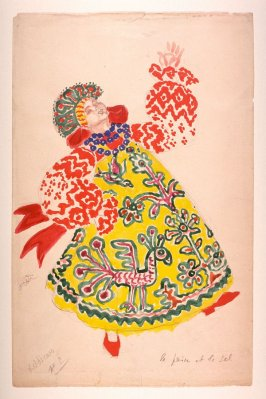 Costume Design for a Russian Peasant Woman in Nikolai Rimsky-Korsakov's ballet La Princesse Cygne produced by Bronislava Nijinska at the Théâtre National de l'Opera Comique, Paris 1932