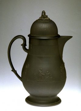 Coffee pot and lid black