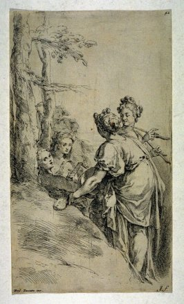 [Four classical figures in a landscape]
