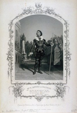 Mr. W. Davidge as Malvolio