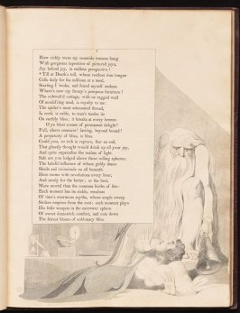 """Till at Death's toll..."" on page 7, fourth plate in the book The Complaint and the Consolation, or Night Thoughts by Edward Young (London: Richard Edwards, 1797)"