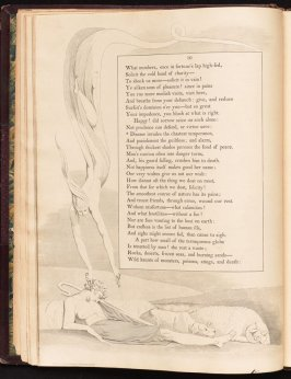 """""""Disease invades the chastest temperament..."""" on page 10, sixth plate in the book The Complaint and the Consolation, or Night Thoughts by Edward Young (London: Richard Edwards, 1797)"""