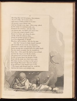 """The longest night..."" on page 15, ninth plate in the book The Complaint and the Consolation, or Night Thoughts by Edward Young (London: Richard Edwards, 1797)"