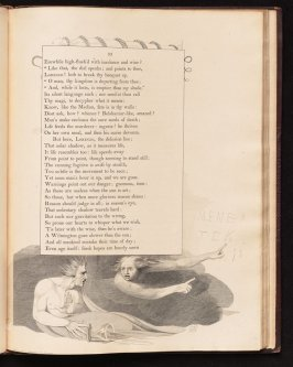 """Like that, the dial speaks;..."" on page 33, nineteenth plate in the book The Complaint and the Consolation, or Night Thoughts by Edward Young (London: Richard Edwards, 1797)"