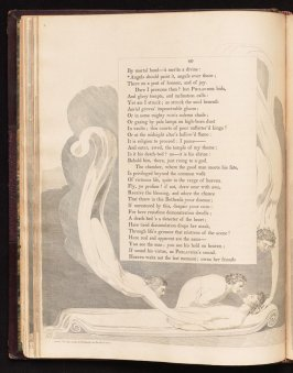 """Angels should paint it...."" on page 40, twenty-second plate in the book The Complaint and the Consolation, or Night Thoughts by Edward Young (London: Richard Edwards, 1797)"