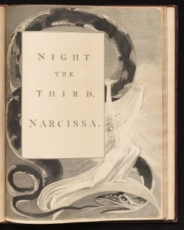 Title page to Night the Third on unnumbered page 43, twenty-fourth plate in the book The Complaint and the Consolation, or Night Thoughts by Edward Young (London: Richard Edwards, 1797)