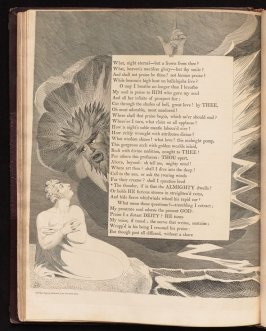 """""""The thunder, if in that..., on page 80, thirty-sixth plate in the book The Complaint and the Consolation, or Night Thoughts by Edward Young (London: Richard Edwards, 1797)"""