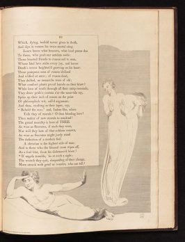 """""""If angels tremble..., on page 93, forty-second plate in the book The Complaint and the Consolation, or Night Thoughts by Edward Young (London: Richard Edwards, 1797)"""