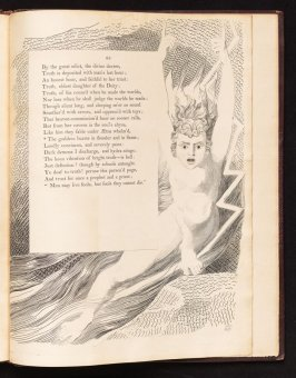 """The goddess bursts..., on page 95, forty-third plate in the book The Complaint and the Consolation, or Night Thoughts by Edward Young (London: Richard Edwards, 1797)"