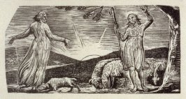 No.1: Colinet, illustration to Ambrose Philips' 'Imitation of Eclogue I', from Dr R. J. Thornton's 'The Pastorals of Virgil' (London, 1821)