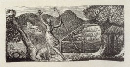 No.6: Thenot, illustration to Ambrose Philips' 'Imitation of Eclogue I', from Dr R. J. Thornton's 'The Pastorals of Virgil' (London, 1821)