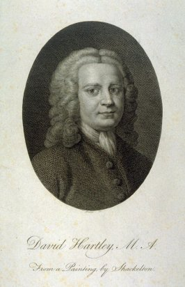 David Hartley M.A., frontispiece to Hartley's 'Observations on Man'