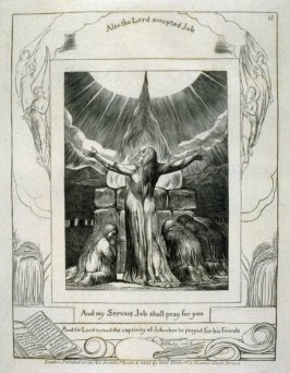 """Plate 18: """"And My Servant Job Shall Pray for You"""" from Complete proof edition of Book of Job"""