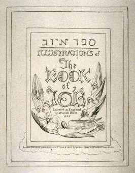 Title-page to William Blake's 'The Book of Job'
