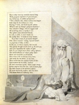 """""""Till at Death's toll..."""" on page 7, fourth plate in the book The Complaint and the Consolation, or Night Thoughts by Edward Young (London: Richard Edwards, 1797)"""