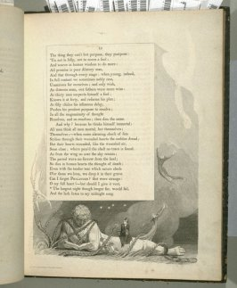 """""""The longest night..."""" on page 15, ninth plate in the book The Complaint and the Consolation, or Night Thoughts by Edward Young (London: Richard Edwards, 1797)"""