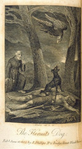 The Hermit's Dog, plate opposite page 123 in the book Ballads… relating to Animals (London: Richard Phillips, 1805)