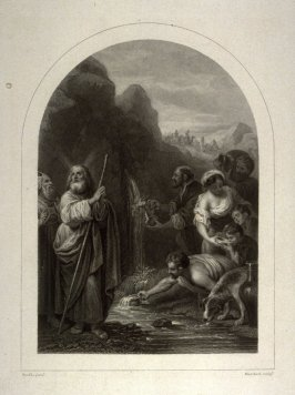 Moses drawing water from the rock