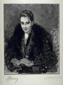 [Portrait of a Woman] from the portfolio Les Cartons d'estampes gravées sur bois, oeuvrage corporative (Portfolio of wood engravings after works of various French artists)