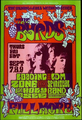 The Byrds, Loading Zone, LDM Spiritual Band, September 7 - 9, Fillmore Auditorium