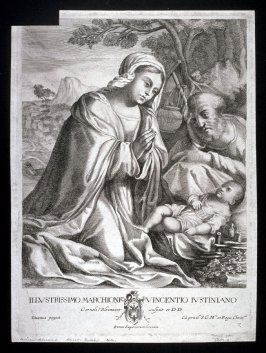 Virgin adoring the Child