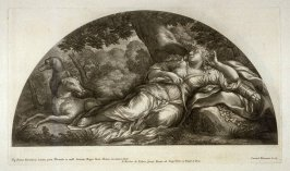 Diana Resting, fourth plate of Heroicae virtutis imagines quas Eques Petrus Berrettinus Cortonensis pinxit … (Rome: Domenico de Rubeis …, undated), first part in miscellany with spine title: Opere d. div. pittori et gugliae di Roma.