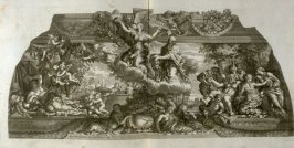 untitled, tenth plate following the series Heroicae virtutis imagines quas Eques Petrus Berrettinus Cortonensis pinxit … (Rome: Domenico de Rubeis …, undated), first part in miscellany with spine title: Opere d. div. pittori et gugliae di Roma.