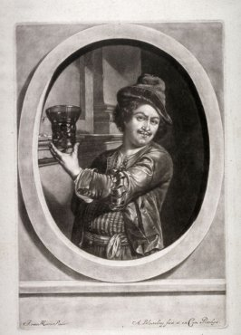 Self-Portrait of Jan van Mieris; The young man with the goblet