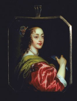 Portrait of a queen wearing red gown