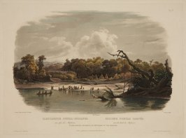 Vignette XI: Punkas Indians Encamped on the Banks of the Missouri
