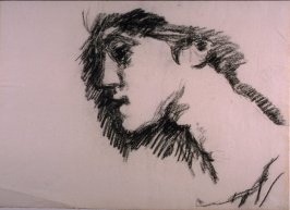Untitled (Profile of woman)