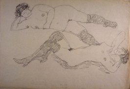 Untitled (2 reclining nude women)