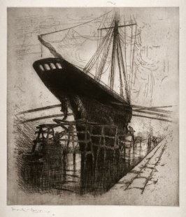 Sailing Ship in Dry Dock at Le Havre