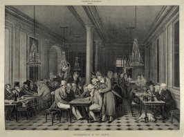 Intérieur D'Un Café...sixty ninth plate in the book... Galerie lithographiée de son Altesse royale Monseigneur le Duc d' Orléans (Paris: Bureau de la Galerie … [1830?]), vol. 1
