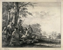 Landscape with group of people
