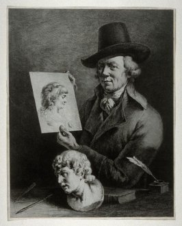 Self-Portrait holding a Portrait of his Wife