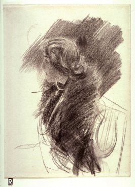 Recto: Portrait Study of a Woman in Profile
