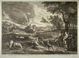 Pair of Lovers and pipe player in the country