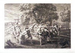 Peasants in a country dance