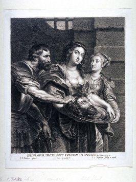 Salomé receiving the head of St. John from the executioner