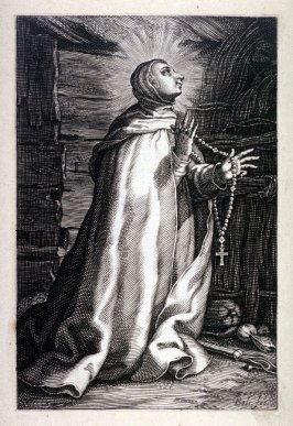 Saint Syncletica (from a series of 25 engravings of the Hermits)