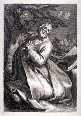 St. Bonosus (St. Judoc) from a series of 25 engravings of the Hermits