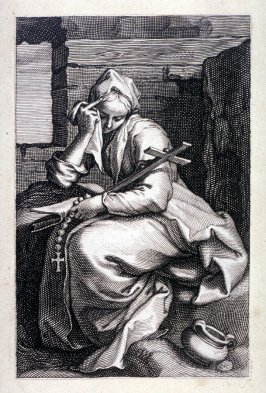 St. Thais (from a series of 25 engravings of the Hermits)