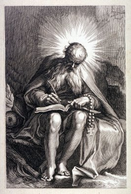 St. Ephraem (from a series of 25 engravings of the Hermits)
